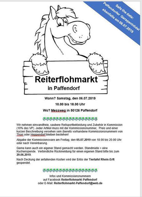 Plakat: Pferdeflohmarkt