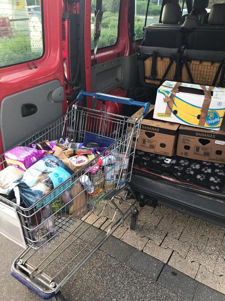 Futterspenden für die Tiertafel RheinErft