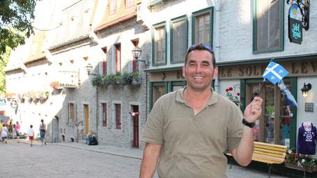 Kanada Route Osten: Ihr freundlicher Reiseleiter in der Altstadt von Québec...