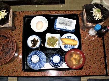 Ryokan Japan buchen Frühstück