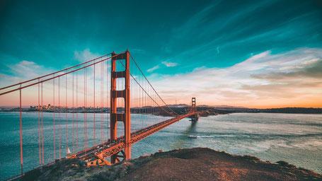 Kalifornien Rundreise Route: Golden Gate Bridge
