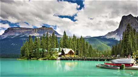 Reiseroute British Columbia: Emerald Lake Lodge im Yoho Nationalpark
