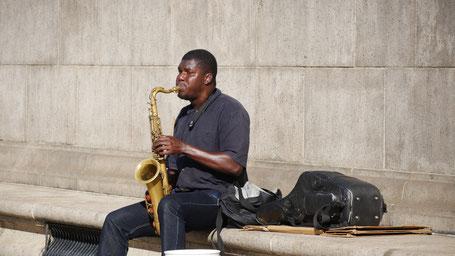 Rundreise USA Ostküste: Straßenmusiker in Boston