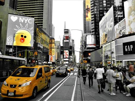 Rundreise USA Ostküste: Rushhour am Times Square