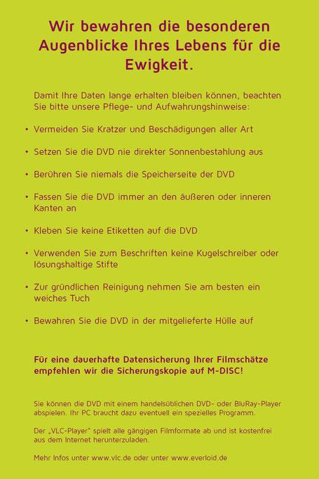 Wie sollte ich meine DVDs aufbewahren?