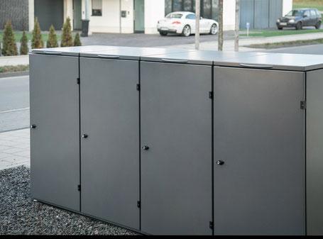 Mülltonnenbox Edelstahl Modell Oslo