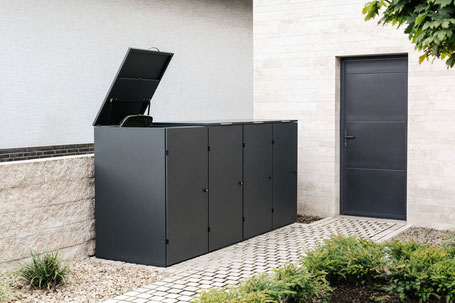Mülltonnenbox Edelstahl Modell Oslo Farbe DB 703