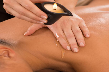 Kerzen Massage