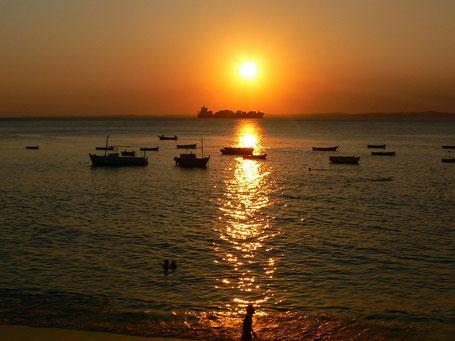 Sonnenuntergang am Strand von Barra