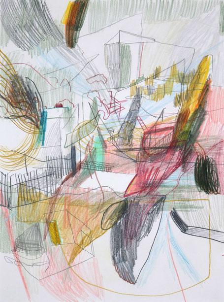 Sandstein . 2016 . Bleistift und Farbstift auf Papier . 32 x 24 cm
