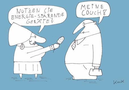 Cartoon von Oliver Kock:  Meinungsumfrage