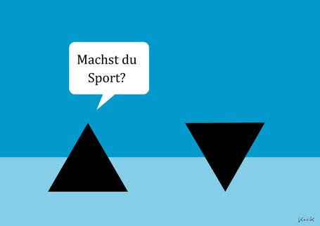 Cartoon von Oliver Kock: Dreiecke