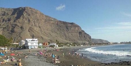 Strand von La Playa im Valle Gran Rey