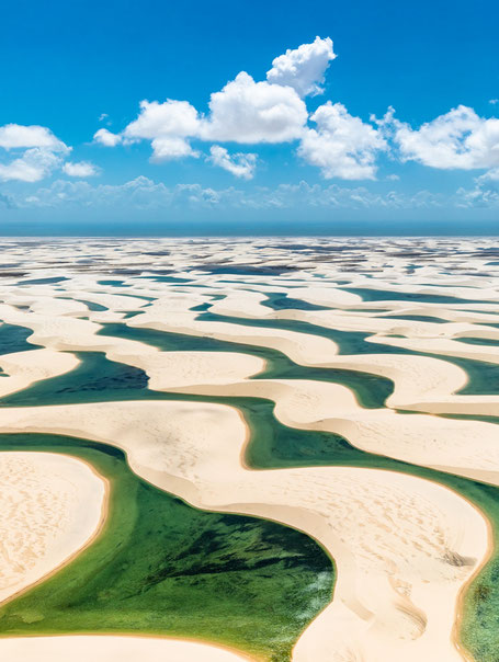 Lençois Maranhenses, Brésil - Photo : Julius Dadalti (Wikipedia)