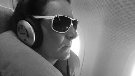 Versuche mich im Flugzeug zu entspannen