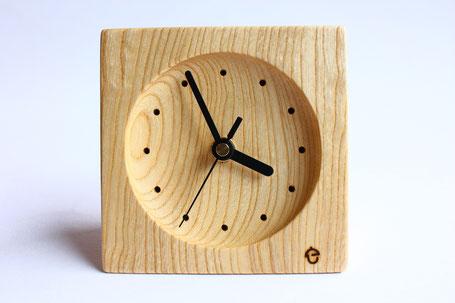 卓上時計 置き時計 時計 木 ぬくもり 新築 結婚 お祝い 飛騨高山