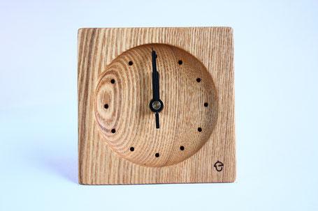 卓上時計 置き時計 時計 木 タモ ぬくもり 新築 結婚 お祝い 飛騨高山