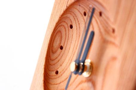 卓上時計 置き時計 時計 木 木目 美しい ぬくもり 新築 結婚 お祝い 飛騨高山