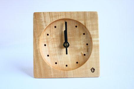 卓上時計 置き時計 時計 木 トチ ぬくもり 新築 結婚 お祝い 飛騨高山