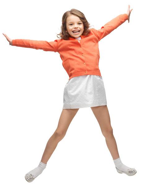 Mädchen hat spaß bei der OGS (Offene Ganztagsschule - Nachmittagsbetreuung) an der Albert- Schweitzer- Gemeinschaftsgrundschule Geldern.