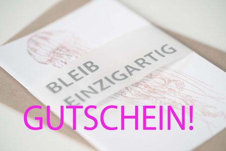 Geschenkgutschein Siebdruck Kurs Kissen Geschirrtücher Bielefeld Sieb & Seele Sieb und Seele Geschenkidee