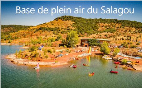 Base de plein air du Salagou Base nautique Lac du Salagou Hérault  Voile canoé pédalo catamaran stand up paddle