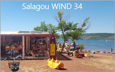 Salagou Wind 34 location stand up paddle canoé pédalo Lac du Salagou
