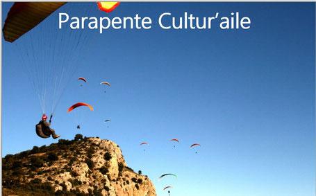 Parapente Cultur'aile Ecole de parapente Hérault 34 Languedoc Pic de Vissou Lac du Salagou