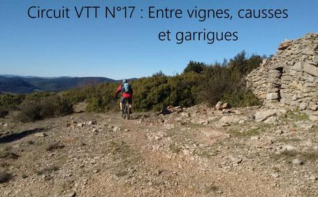 Circuit VTT et VTT electrique VTTAE VAE Location Hérault 34 Salagou Larzac