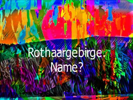 """Ein Eindruck von Feuer und Flamme vereinen sich in diesem Schriftzug """"Rothaargebirge"""". Im Text wird nach der Namensherkunft gefragt."""