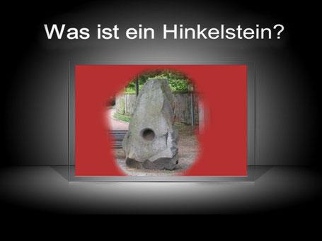 Dieses Bild zeigt einen Stein in länglicher Form, der an einen Hinkelstein erinnern kann. Der zugehörige Text fragt: Was ist ein Hinkelstein?