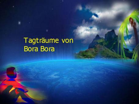 Dieses Bild zeigt eine Person, die von der Südseeinsel Bora Bora träumt.