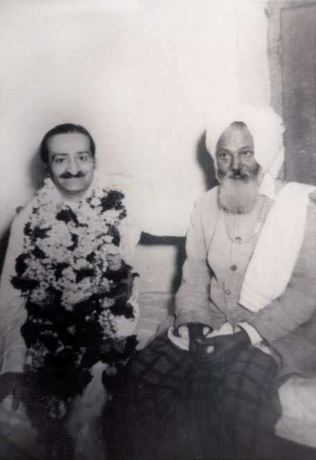Meher Baba with Ali Shah. Photo courtesy of Dennis Schlaen