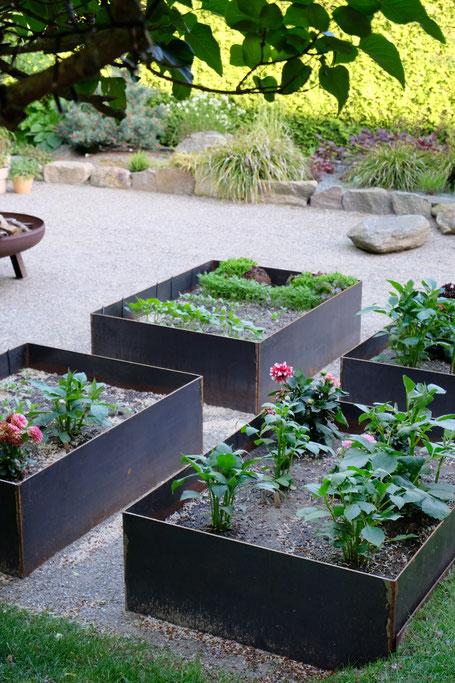 dieartigeGARTEN //June Garden - new high beds / neue Kniehochbeete mit saftigem Grün