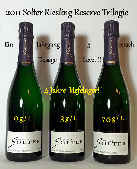 Sekthaus Solter Riesling Reserve Dosage Trilogie