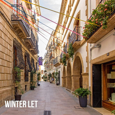 The old town of Javea in winter