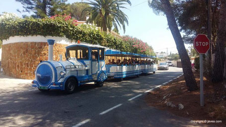 Tourist train Javea - photo credit Javea.com