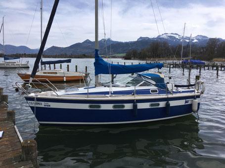 Baumpersenning für Segelboot