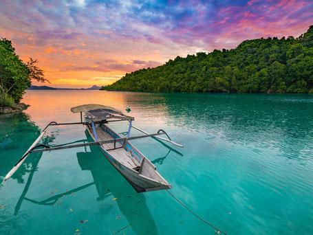 Authentieke Togian eilanden bij Sulawesi