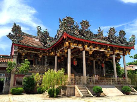 Leong San Tong Khoo Kongsi Chinees clan huis op het eiland Penang in West-Maleisie