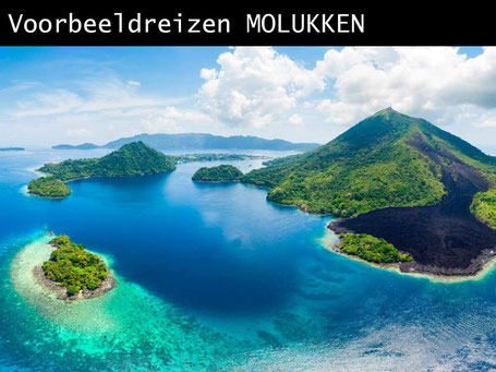 Banda eilanden op de Molukken