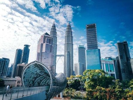 De levendige hoofdstad Kuala Lumpur in West-Maleisie