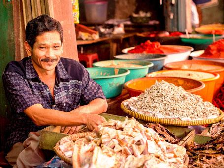 Lokala markt op Sumatra