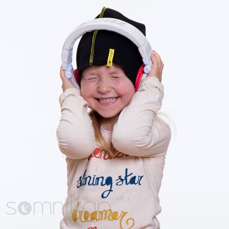 somnikap atmungsaktive leichte Mütze mit Kopfhörern