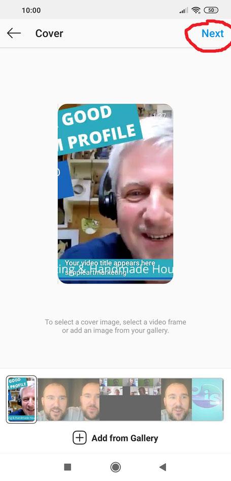 Instagram video posting