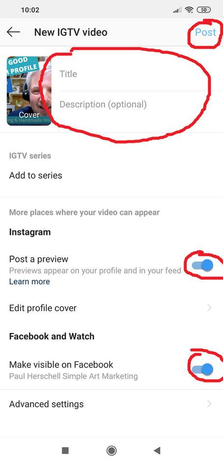 IGTV video posting