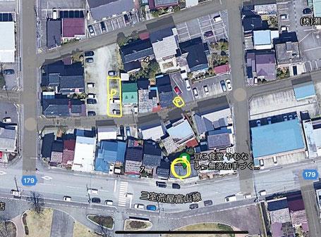 駐車場 地図  上が北側