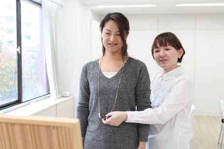 診断風景ネックレス(骨格診断の流れ)