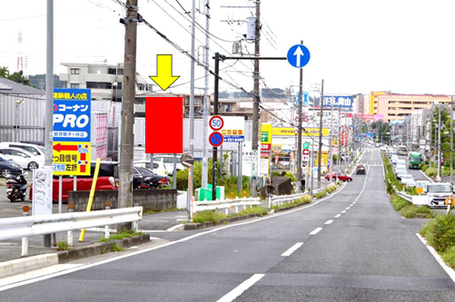 環状2号梶山橋・遠景