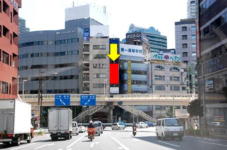 国道一号線藤ビル・遠景